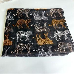 J.Crew Leopard Cheetah Animal Print Long Scarf